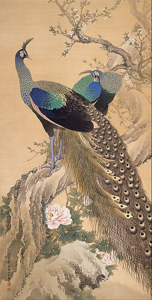 imao_keinen_-_a_pair_of_peacocks_in_spring_-_google_art_project